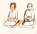 Sunday Meditation Day. Artwork meditators ©️ Marcelle Hanselaar