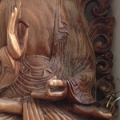 New Wooden Buddha at the Golden Buddha Centre