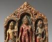 Buddha with Bodhisattvas Padmapani and Vajrapani.