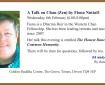 A Talk on Chan (Zen) by Fiona Nuttall: Wednesday 6th February (6.00-8.00pm)