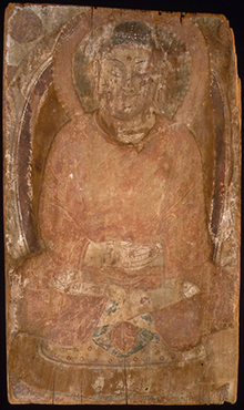 Buddha with a Halo and Flaming Body, Khotan Kingdom, 6th–7th century, © The Metropolitan Museum of Art