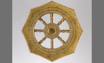 Wheel of the Buddhist Law. Japan, late 13th century, © The Metropolitan Museum of Art.