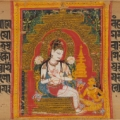 Bodhisattva Avalokiteshvara Expounding the Dharma to a Devotee: Folio from a Ashtasahasrika Prajnaparamita Manuscript early 12th century. © The Metropolitan Museum of Art.